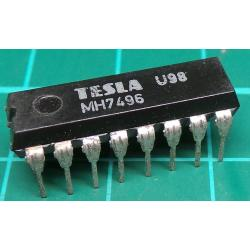 7496, MH7496, TESLA, 5-bit parallel-In/parallel-out shift register, asynchronous preset