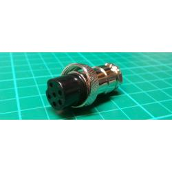 MIC socket with 6p cable nut