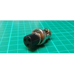 MIC socket with 3p cable nut