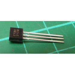 Transistor: PNP, bipolar, 30V, 100mA, 350 / 1W, TO92, 10dB