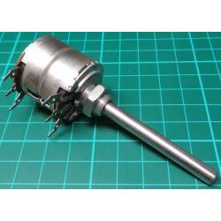 Potentiometer, 2 x 1K, Lin, THT, 6x50mm Shaft