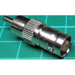 RCA Plug to BNC Socket, Adaptor