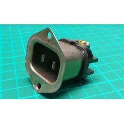 Mains Socket, 2-Pin, 250V, 6A