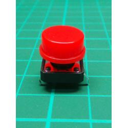 Tactile Switch PCB Tact Push Button Momentary, Red, 12 x12x 7.3mm