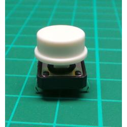 Tactile Switch PCB Tact Push Button Momentary, White, 12 x12x 7.3mm