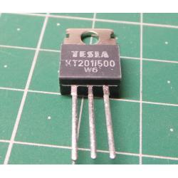 Thyristor, KT201/500, 500V, 3A, 20mA, TO220AB