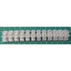 Terminal Block, 12 Way, for 1.5mm2 wire, 8mm pitch, 3 AMP, PE
