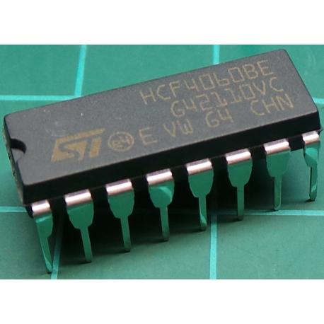 4060, CMOS 14 Stage Ripple-Carry Binary Counter/Divider and Oscillator