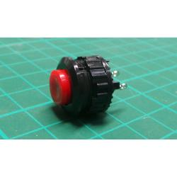 Button DS-501, ON- (OFF) 125V / 1A red