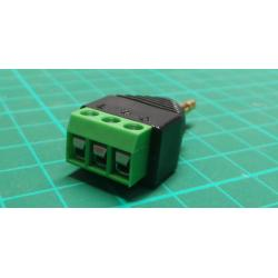 JACK 3,5 stereo connector with terminal block