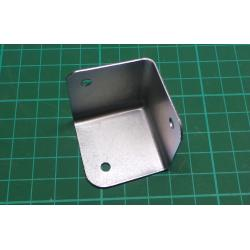 Metal corner for cabinet 40x40x40mm nickel plated