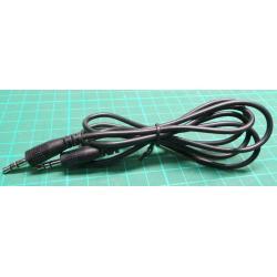 3.5mm Stereo Jack Plug to 3.5mm Stereo Jack Plug, 1m, Black