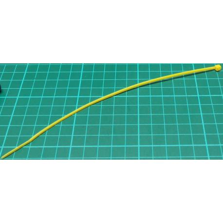 Cable Tie, 2.5x200mm, Yellow