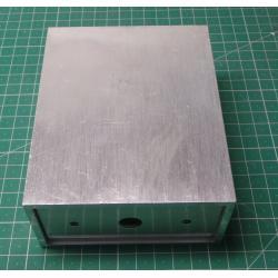 Enclosure aluminum two-piece 125x100x50mm