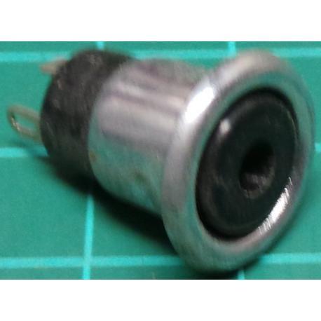 Jack Socket, 3.5mm, Stereo, Panel Mount, Press Fit