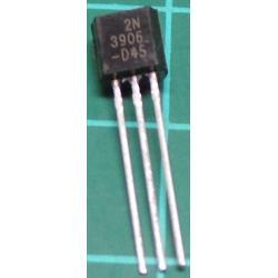 2N3906BU, PNP Transistor, 40V, 0.2A, 0.625W