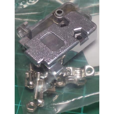 D Type, Backshell / Hood, 9 Pin D or 15 Pin HD, Metalised Plastic, with Screwlocks