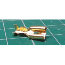 Faston-zdířka 4,8mm neizolovaná, kabel do 1mm2, balení 100ks