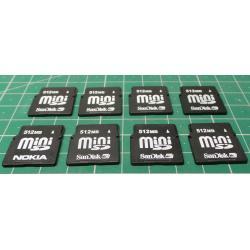 USED, Mini SD, 512MB, Class 4
