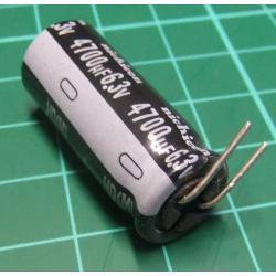 Capacitor, 4700uF, 6.3V, Radial, Electrolitic