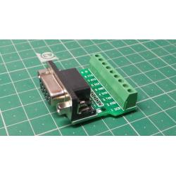 D-SUB (CANON) 9pin socket straight with terminal block