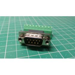 D-SUB (CANON) 9pin straight connector with terminal block