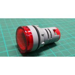 AD16-22DSV, panel MP 60-500VAC, red