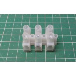 Terminal Block, 3way for 6mm2 wire, 12mm PITCH, 41AMP, NYLON