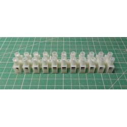 Terminal Block, 11way, for 6mm2 wire, 12mm PITCH, 41AMP, NYLON