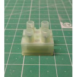 Terminal Block, 2way, for 2.5mm2 wire, 8mm PITCH, 24A, NYLON