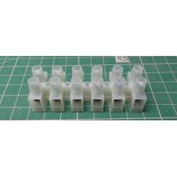 Terminal Block, 6way, for 6mm2 wire, 12mm PUTCH, 41AMP, NYLON