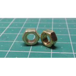 Brass NUT, M5, 8mm
