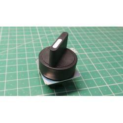 Selector switch, Plastic LR Black, P2AS2-P2, 103-000-749