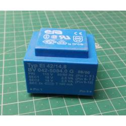Transformer PCB 5VA 115V / 2x18V ERA BV042-5084.0G