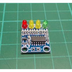 Voltage indicator 3.2-4.2V for Li-Ion and Li-pol cells, XD-82B module