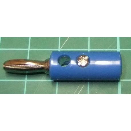 Banana Connector, 4mm, Blue