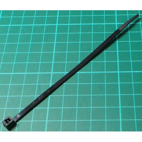 Cable Tie, 3.5x150mm, Black (UV Resistant)