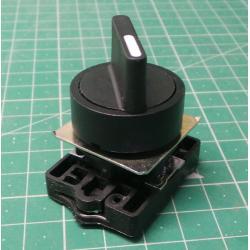Selector, Actuator Plastic Series, P2AS2-2P, Black