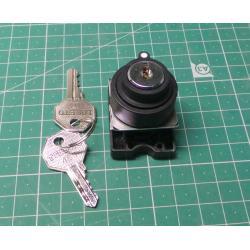 Key selec, Actuator Plastic Series, Stayput, Black, P2AK2-3PC
