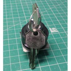Key Switch Plastic, LC*R 455 Black, P2AK2-3PC