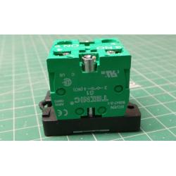 103-000-663, Fixing flange, Plastic + 2NO, P2BRK + (2XS1)