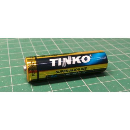 Battery TINKO 1,5V AA (LR6) alkaline, package 60pcs