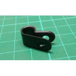 CCS25-S8-C0 - Fastener, P Clip, Screw Mount Cable Clamp, 6.3 mm, Nylon (Polyamide), Black, 9.4 mm