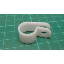 211-60039 - Fastener, P Clip, Screw Mount Cable Clamp, Nylon 6.6 (Polyamide 6.6), Natural, 10 mm