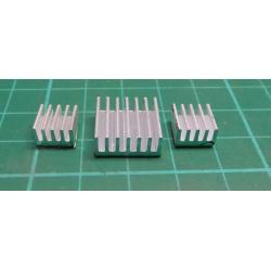 Heatsinks 9x9x5mm-2x + 14x14x6mm-1x with sticker-set of 3 pcs