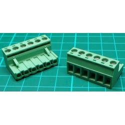 Pluggable Terminal Screw x6, Right Angle Exit, 31x18x15mm