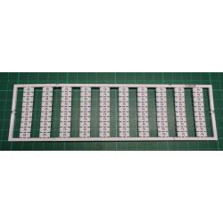WMB marking card, as card, MARKED, F5 (10x), not stretchable, Vertical marking, snap-on type, white
