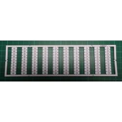 WMB marking card, as card, MARKED, K4 (10x), not stretchable, Vertical marking, snap-on type, white
