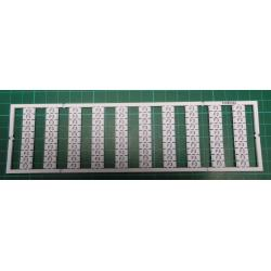 WMB marking card, as card, MARKED, F3 (10x), not stretchable, Vertical marking, snap-on type, white
