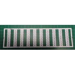 WMB marking card, as card, MARKED, 41 ... 50 (10x), not stretchable, Vertical marking, snap-on type, white